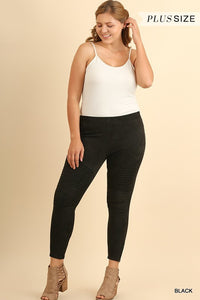 Per-Suede Me Jeggings + (Black)