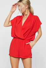 Load image into Gallery viewer, Be Your Best Romper (Red)