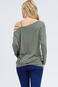 Happy Hour Off the Shoulder (Olive)