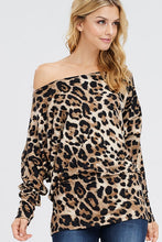 Load image into Gallery viewer, Huntress Games Leopard Print Off the Shoulder Top