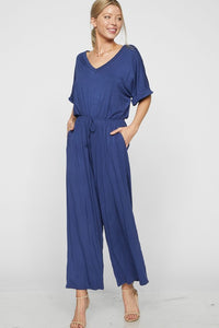 Why Deny It Jumpsuit (Blue)