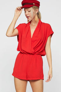 Be Your Best Romper (Red)