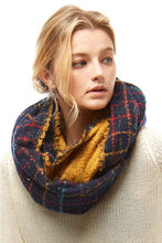 Load image into Gallery viewer, Navy Nights Infinity Scarf