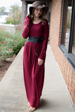 Load image into Gallery viewer, The Perfect Catch Maxi Dress (Burgundy)