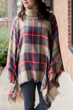 Load image into Gallery viewer, Mix & Mingle Poncho (Red)