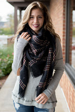 Load image into Gallery viewer, Harvest Time Blanket Scarf (Black)