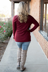 Everyday Wear Cardi (Burgundy)