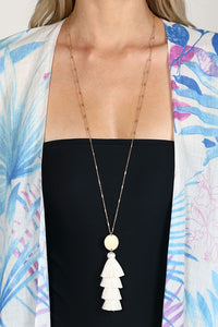 White Sands Tassel Necklace