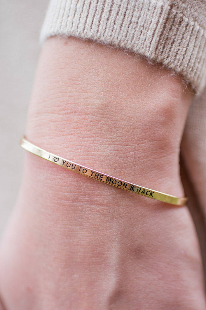 To the Moon Bracelet (Gold)