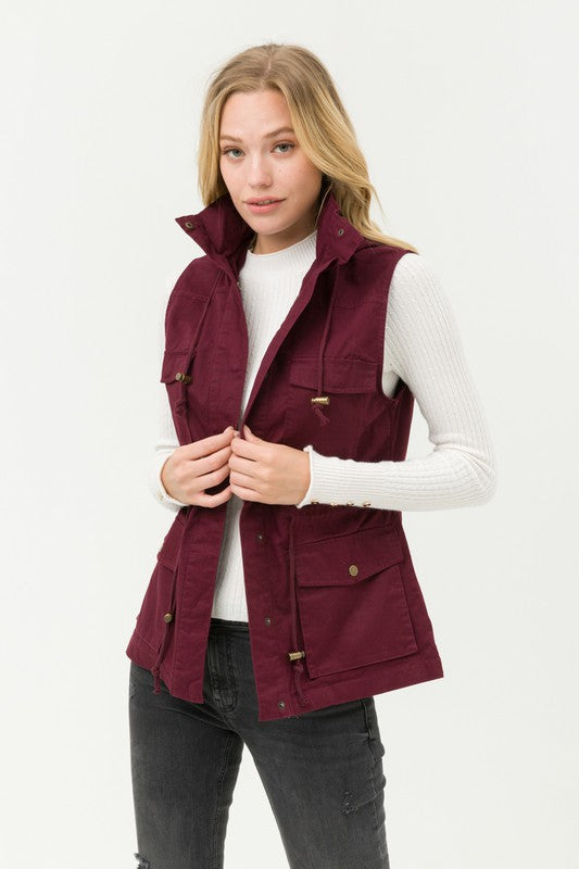 Go to Vest (Burgundy)