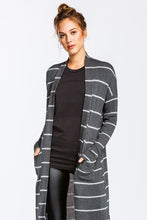 Load image into Gallery viewer, I Walk the Line Cardigan (Charcoal)