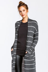 I Walk the Line Cardigan (Olive)