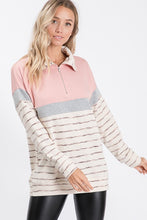 Load image into Gallery viewer, Blushing Beauty Quarter Zip Pull Over