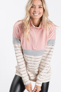 Blushing Beauty Quarter Zip Pull Over