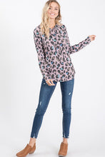 Load image into Gallery viewer, Wild One Leopard Hooded Top