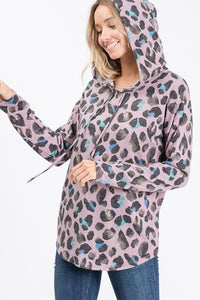 Wild One Leopard Hooded Top