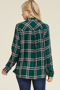 Find My Soul Button Up (Forest Green)