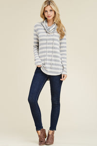 On the Sidelines Cowl Neck Top