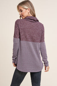 Spice of Life Cowl Neck (Plum)