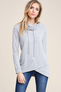 Seize the Day Cowl Neck (Heather Grey)