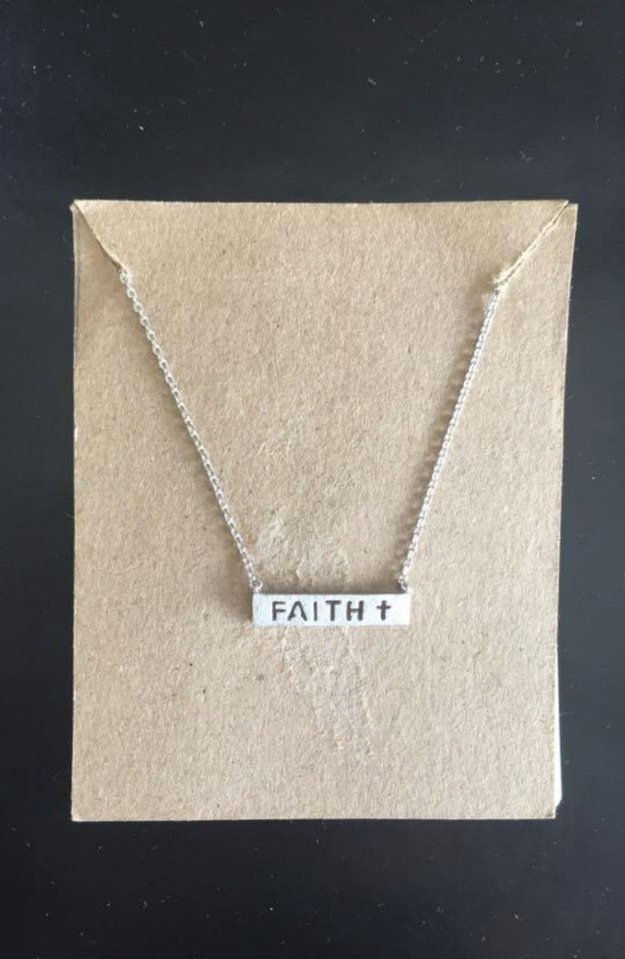 Gotta Have Faith Necklace (Silver)