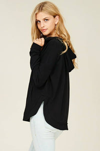 Soft Whispers Pullover Top (Black)