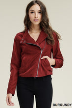 Load image into Gallery viewer, Livin' the Dream Moto Jacket (Burgundy)
