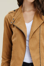 Load image into Gallery viewer, Livin' the Dream Moto Jacket (Dark Camel)