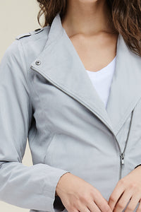 Livin' the Dream Moto Jacket (Silver)