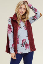 Load image into Gallery viewer, Cozy Nights Vest (Burgundy)
