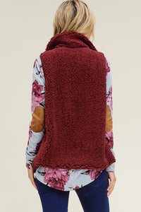 Cozy Nights Vest (Burgundy)