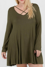 Load image into Gallery viewer, Start Of It Dress (Olive)