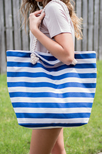 Show Your True Colors Tote (Blue/White)