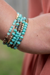Beaded with Love Bracelet (Turquoise)