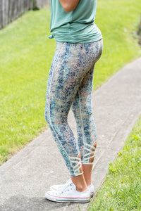 Crop Activewear Pants (Blue)