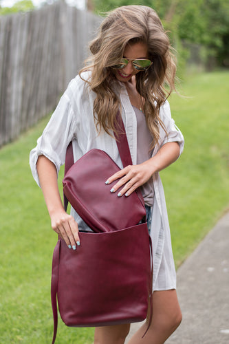 Fall Feels Handbag (Burgundy)