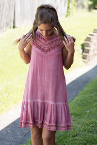 Livin' On The Edge Dress (Rose)
