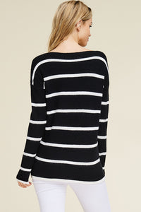 Stripe Out Sweater (Black and White)