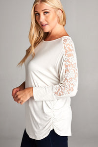 First Lace Tunic Top (White)