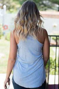Basic Beauty Racerback Tank (Blue)