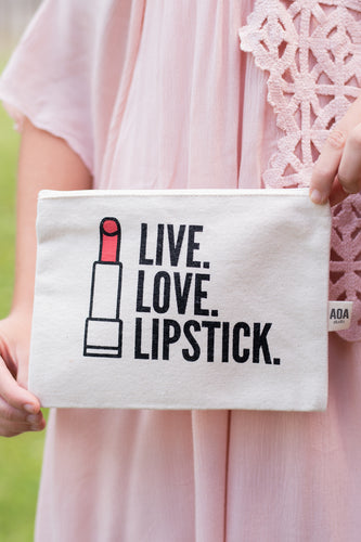 Live.Love.Lipstick Makeup Bag
