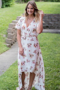 One To Remember High Low  Dress (Cream)