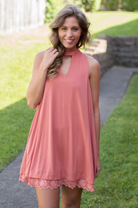 The Mad Hatter Dress (Salmon)