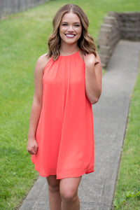 Twist and Shout Dress (Orange)