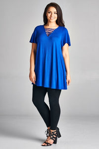 She's on Fire Tunic Top (Royal Blue)