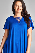 Load image into Gallery viewer, She's on Fire Tunic Top (Royal Blue)