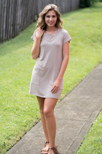 Push My Buttons Tunic (Cocoa)