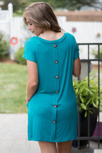 Load image into Gallery viewer, Push my Buttons Tunic (Jade)