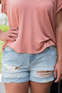 Sandy Shore Shorts (Light Denim)