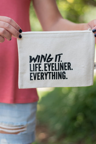 Wing It Makeup Bag